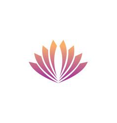 Shape abstract flower logo vector