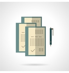 Signing of contracts flat color icon vector image
