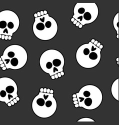 skull cartoon seamless pattern background vector image
