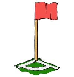 soccer corner flag vector image