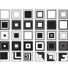 Squares vector image