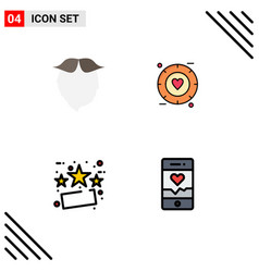 Stock icon pack 4 line signs and symbols for vector