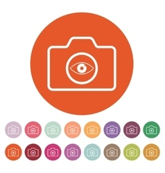 The camera icon Photo symbol Flat vector image