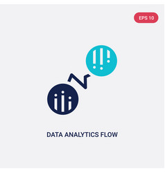 Two color data analytics flow icon from business vector