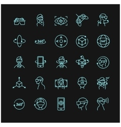Virtual and augmented reality icon set vector image