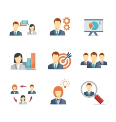Business people for Web and Mobile App vector image vector image