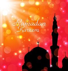 Celebration card for Ramadan Kareem vector image vector image