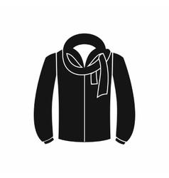 Jacket icon black simple style vector image