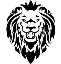 Lion tribal tattoo vector image