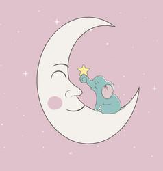 sweet child elephant vector image vector image