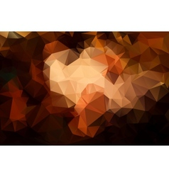 Abstract brown background polygon vector image