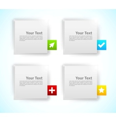 Design elements Squares vector image