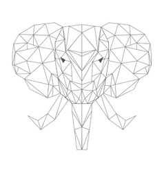 Elephant head low poly isolated icon vector