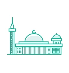 istiqlal mosque Islam prayer building in Jakarta vector image vector image