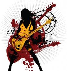rock woman vector image vector image