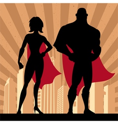 Superhero Couple 4 vector image