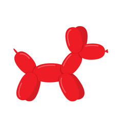 toy dog puppy balloon vector image