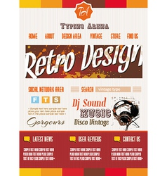 Vintage retro page template for a variety of vector image vector image