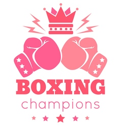 Womens boxing vector