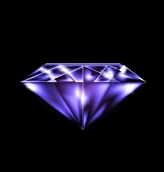 abstract purple gem vector image vector image