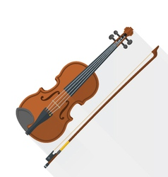 color flat style fiddle violin vector image