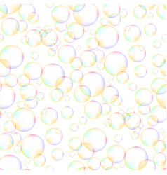 colorful foam bubbles seamless pattern vector image