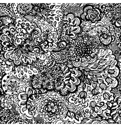 Floral doodle seamless wallpaper pattern vector image vector image