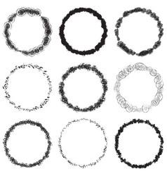 grunge rings big set vector image