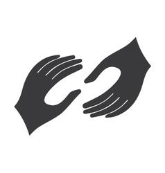 Helping hands logo vector image