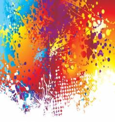 ink splat rainbow background vector image vector image