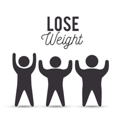 lose weight design vector image vector image