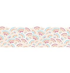 Textured geometric doodle horizontal seamless vector image vector image