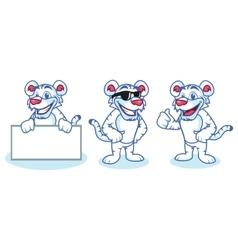 White Tiger Mascot happy vector image