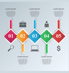 abstract paper business infographic vector image