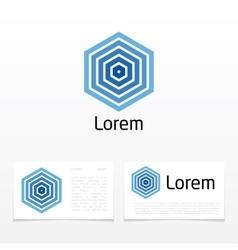 hexagon shape abstract vector image vector image