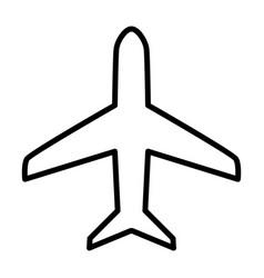 plane line icon simple minimal 96x96 pictogram vector image vector image
