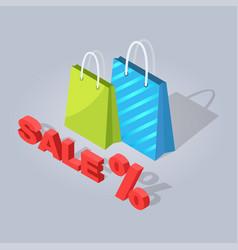 Set of sale online shopping hand drawn handbag vector