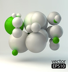 3D concept template vector image