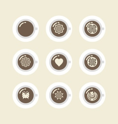 447all coffee icons vector
