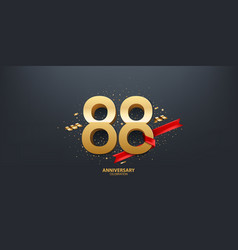 88th year anniversary background vector