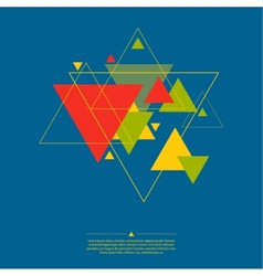 Abstract background with triangles vector