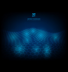abstract technology hexagon pattern shining glow vector image