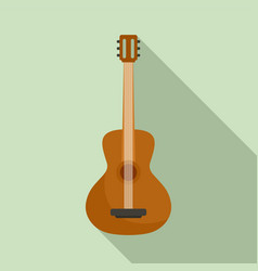 Acoustic guitar icon flat style vector