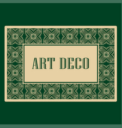 Art deco border frame vector