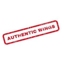 Authentic Wings Text Rubber Stamp vector image