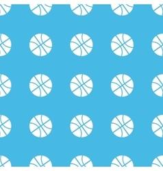 Basketball straight pattern vector image