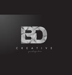 Bd b d letter logo with zebra lines texture vector