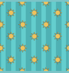 beautiful seamless pattern of sun on a vector image