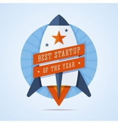 Best startup of the year vector image