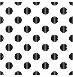 black and white cricket ball pattern vector image